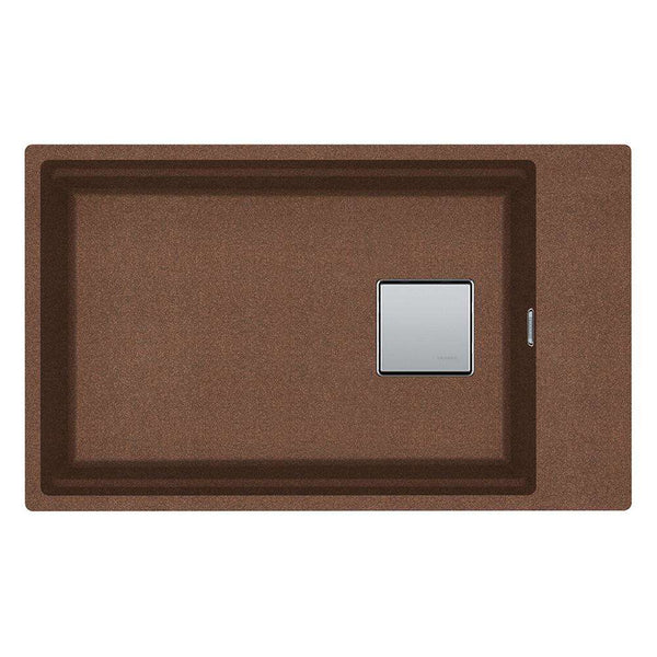 Franke Kubus KNG 110-62 Reversible Fragranite 1.0 Bowl Undermount Sink, Copper Gold | 125.0539.676