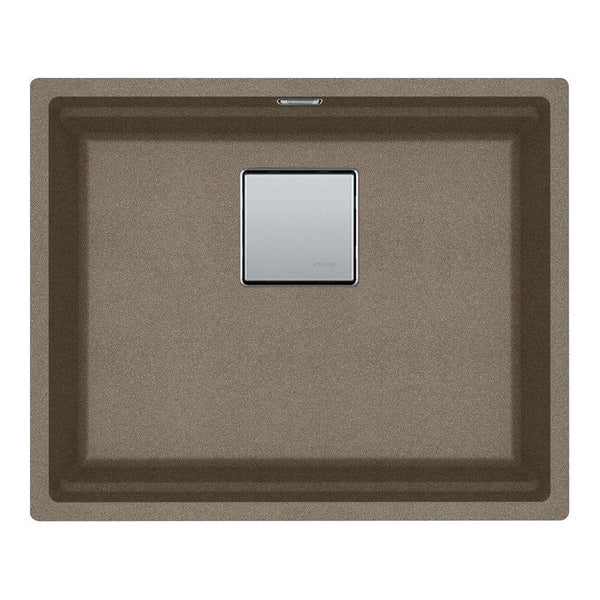 Franke Kubus KNG 110-52 Fragranite 1.0 Bowl Undermount Sink, Lunar Grey | 125.0539.723