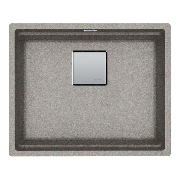 Franke Kubus KNG 110-52 Fragranite 1.0 Bowl Undermount Sink, Sterling Silver | 125.0539.724