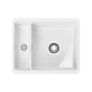 Franke Kubus KBK 160 Reversible Ceramic 1.5 Bowl Undermount Sink, White | 126.0330.614