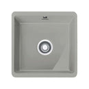 Franke Kubus KBK 110-40 Ceramic 1.0 Bowl Undermount Sink, Matt Pearl Grey | 126.0380.205