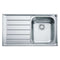 Franke Neptune NEX 211 Slim-Top Left Handed Stainless Steel 1.0 Bowl Inset Sink | 127.0059.655
