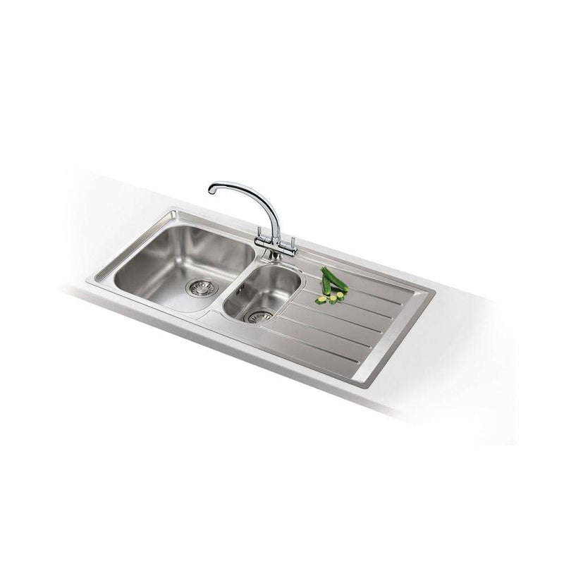 Franke Neptune NEX 251 Slim-Top Right Handed Stainless Steel 1.5 Bowl Inset Sink | 127.0059.658