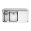 Franke Sinos SNX 261 Right Handed Stainless Steel 1.5 Bowl Inset Sink | 127.0364.713