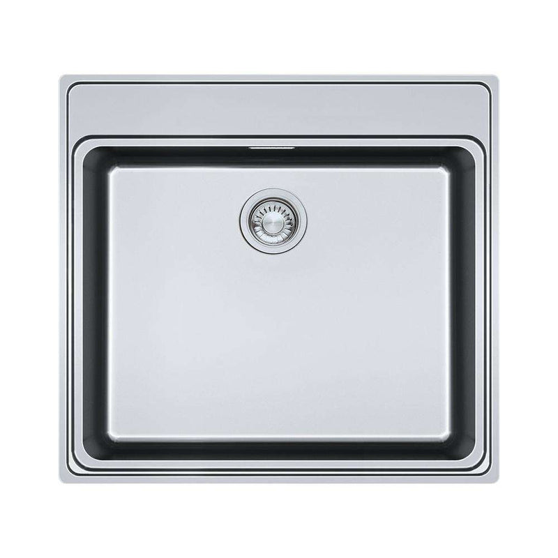 Franke FSX 210 TPL Stainless Steel 1.0 Bowl Inset Sink | 127.0434.286