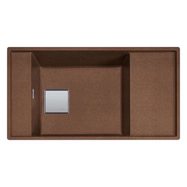 Franke Fresno FSG 111 Reversible Fragranite 1.0 Bowl Undermount Sink, Copper Gold | 135.0536.216