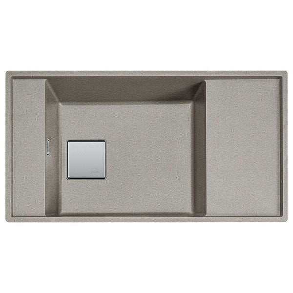 Franke Fresno FSG 111 Reversible Fragranite 1.0 Bowl Undermount Sink, Sterling Silver | 135.0536.251