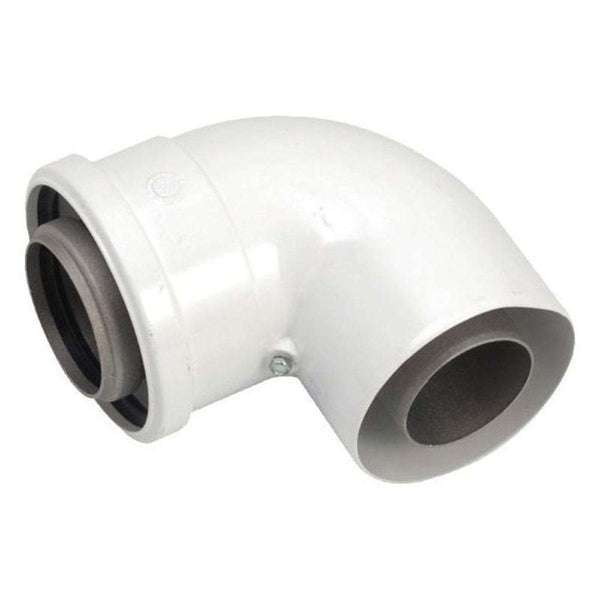Glow-worm Flue Elbow, White (90°)