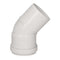 Glow-worm Plume Elbow, White (45°)