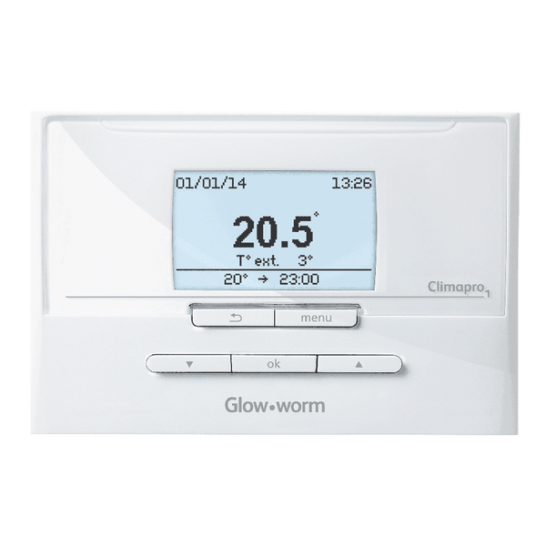 Glow-worm Climapro2 Twin Channel 7-Day Wired Programmer