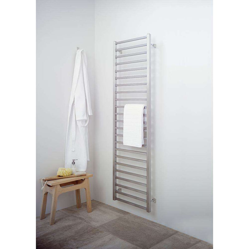 Aeon Karnak Stainless Steel Designer Towel Rail - 4K5P | 480mm x 420mm | Polished | MADE TO ORDER