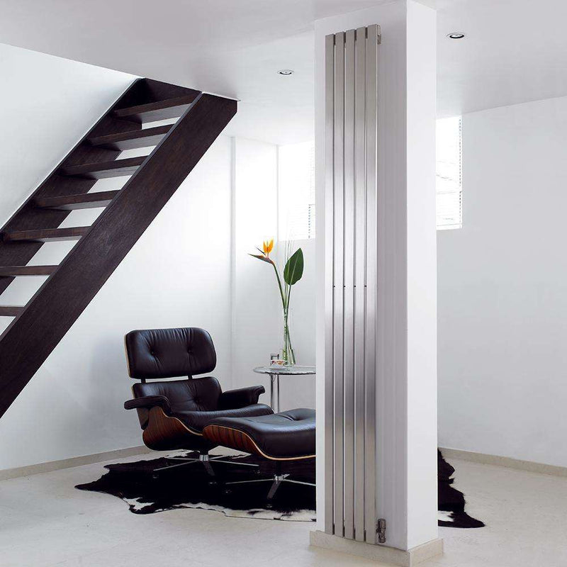 Aeon Lunar Stainless Steel Designer Radiator - LUN1810S | 1800mm x 490mm | Brushed | MADE TO ORDER