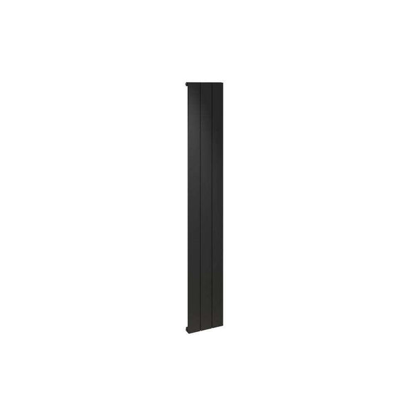 Alulite 1800mm x 280mm Flat Radiator, Black