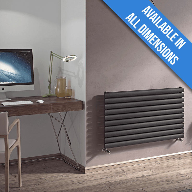 Eucotherm Nova Horizontal Single Tube Designer Radiator, Anthracite - 584mm x 1200mm