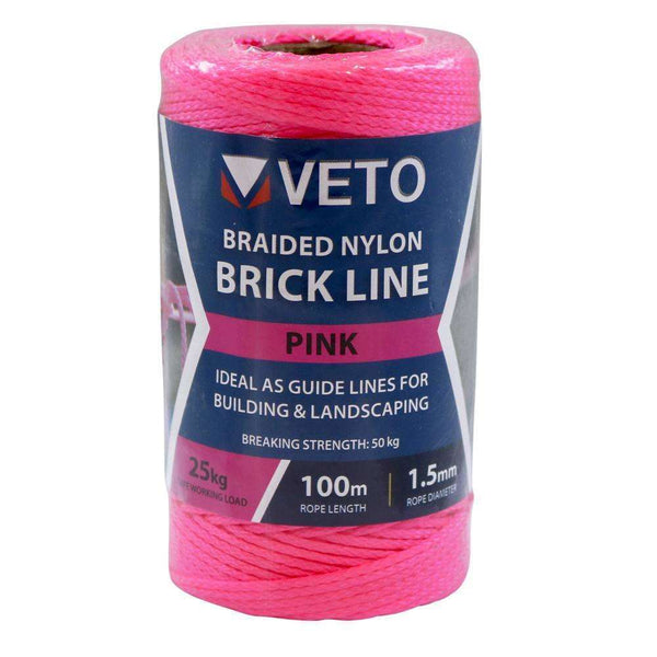 Timco Pink Builders Line - Tube (1.5mm x 100m)