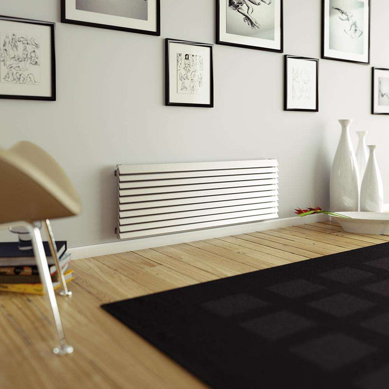 Aeon Panacea: Type E Stainless Steel Designer Radiator - PANE1206S | 1175mm x 600mm | Brushed | MADE TO ORDER