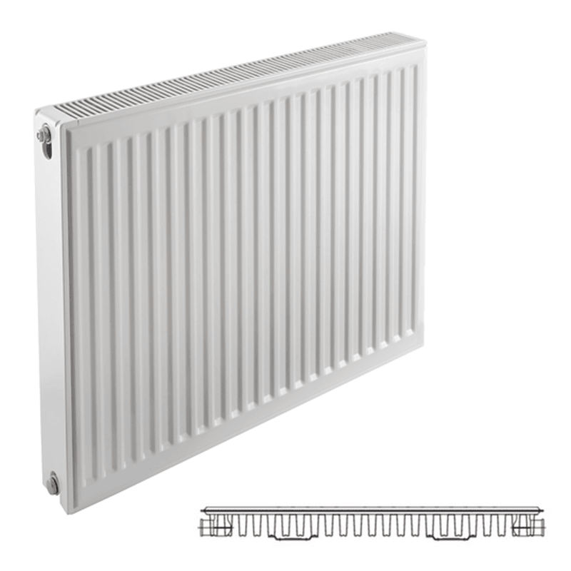 Prorad Type 11 Single Panel, Single Convector Compact Radiator - 600mm x 800mm