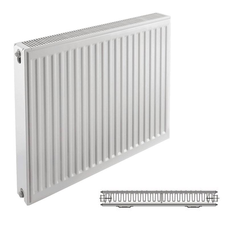Prorad Type 21 Double Panel, Single Convector Compact Radiator - 600mm x 1000mm