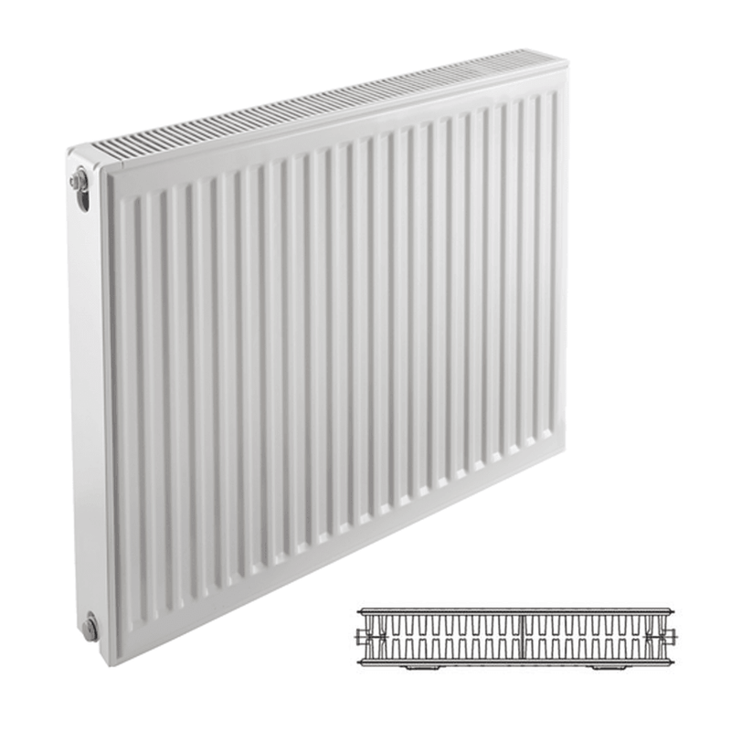 Prorad Type 22 Double Panel, Double Convector Compact Radiator - 500mm x 600mm