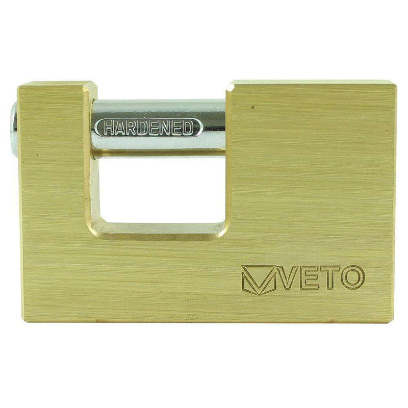 Timco Veto Rectangle Brass Padlock (75mm)