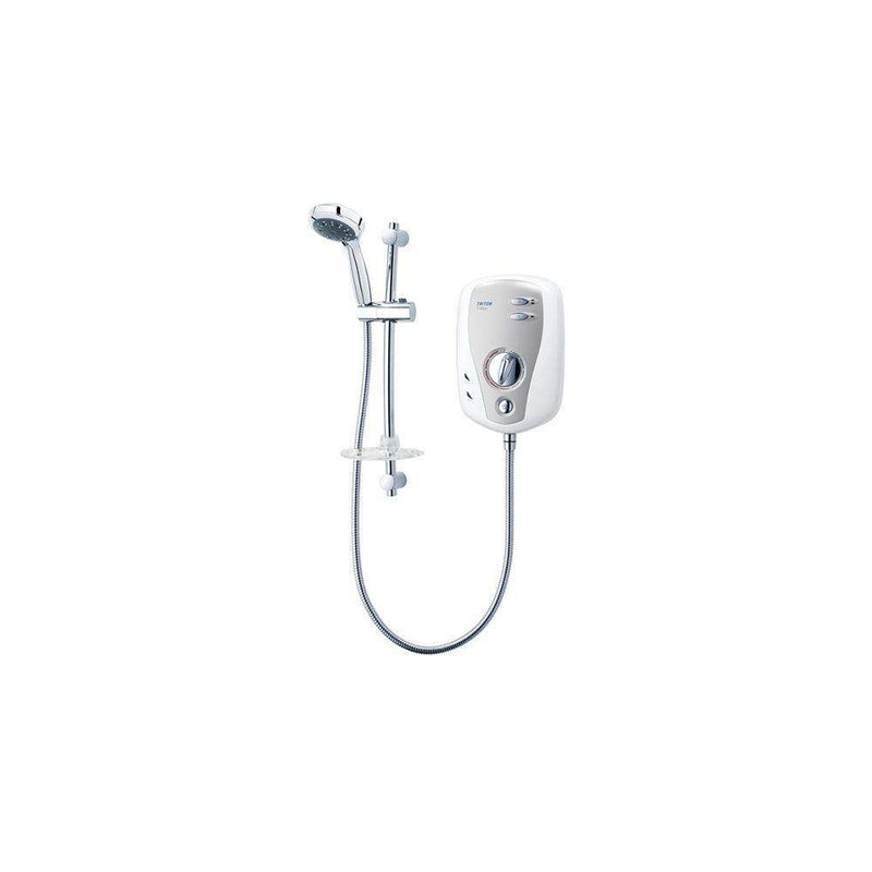 Triton T100XR Slimline Electric Shower 10.5kW, White/Chrome