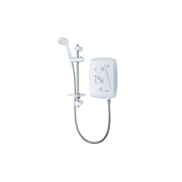 Triton T80ZFF Electric Shower 10.5kW, White/Chrome