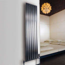Aeon Supra: Double Stainless Steel Designer Radiator - SUPD104S | 1000mm x 440mm | Brushed | MADE TO ORDER