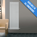 Eucotherm Supra Square Tube Vertical Designer Radiator, White - 1800mm x 470mm