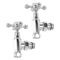 Aeon TLB850C Traditional Cross-Head Manual Angled Radiator Valve and Lockshield Pack, Chrome