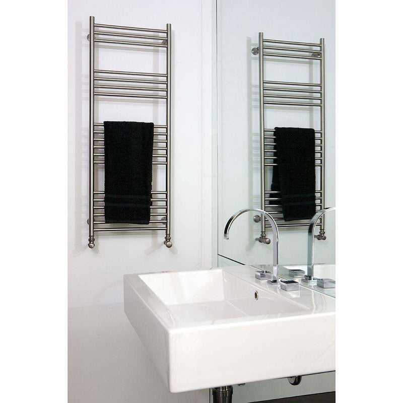 Aeon Tora Classic Stainless Steel Designer Towel Rail - TOR407-2P | 718mm x 400mm | Polished