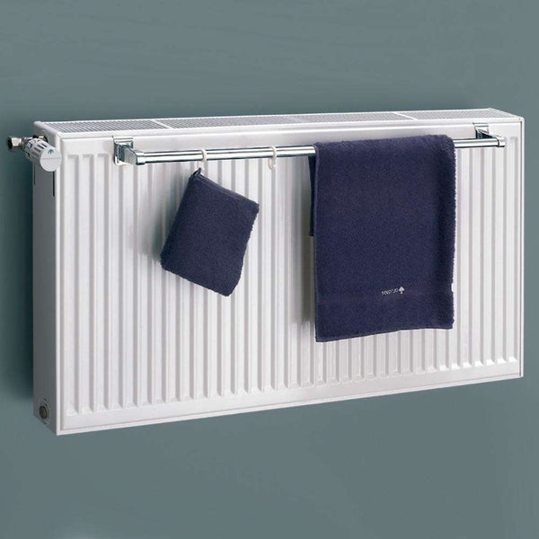 Eucotherm Towel Rail for Double Panel Radiator, Chrome - 1000mm