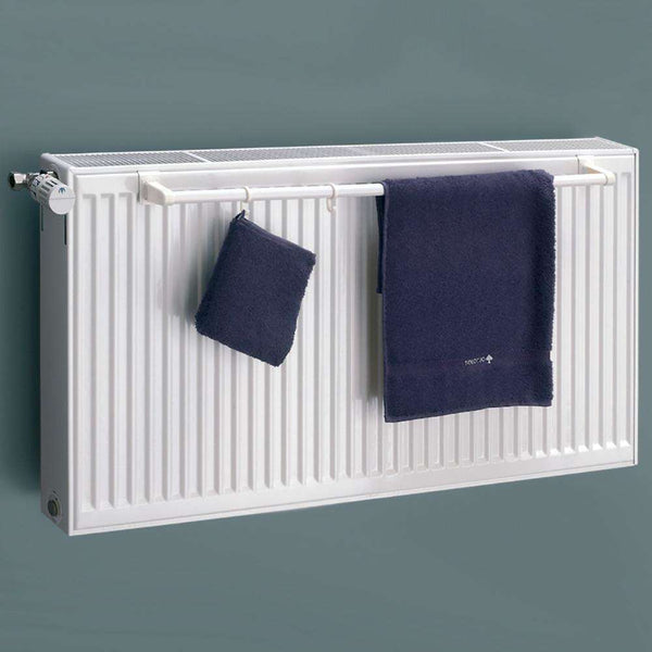 Eucotherm Towel Rail for Double Panel Radiator, White - 1000mm