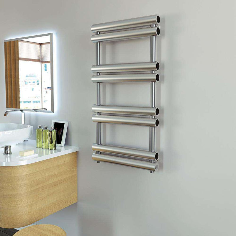 Aeon Tubo Stainless Steel Designer Towel Rail - TUB508P | 990mm x 500mm | Polished