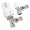 Ultraheat UAW850NL Angled TRV, Sensor Head and Lockshield Pack, White