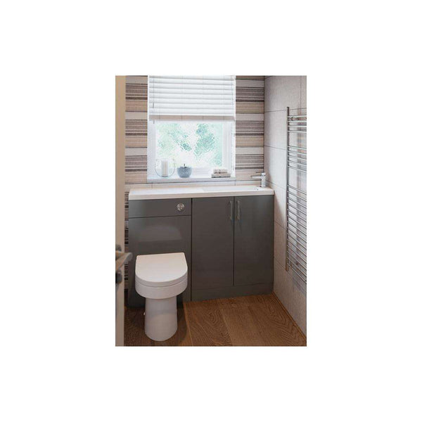 Volta Space Saving Unit, Grey Gloss