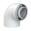 Viessmann Flue Elbow, White (87°)