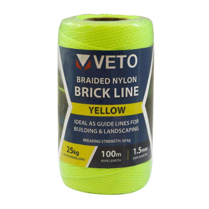 Timco Yellow Builders Line - Tube (1.5mm x 100m)