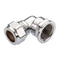 "15mm x 1/2"" Chrome Compression to Female Iron Elbow"