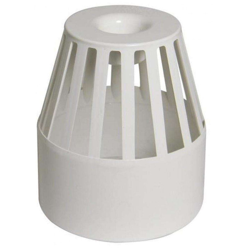 Floplast Ring Seal Vent Terminal, White (110mm)