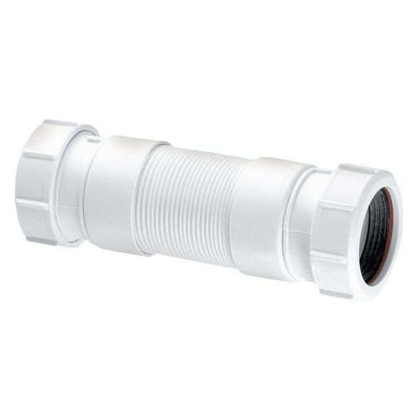 "McAlpine Flexcon4 Flexible Waste Connector Fitting with Universal Outlet (1 1/2"")"