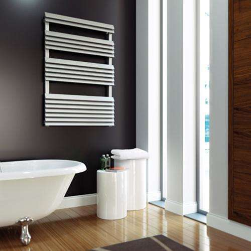Aeon Panacea: Bath Stainless Steel Designer Radiator - PANB1208S | 1175mm x 800mm | Brushed | MADE TO ORDER