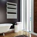 Aeon Panacea: Bath Stainless Steel Designer Radiator - PANB705S | 660mm x 500mm | Brushed | MADE TO ORDER