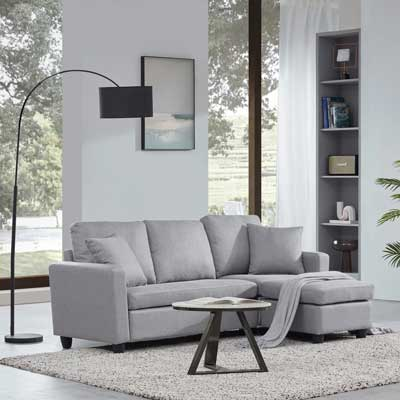 sectional sofa from Belleze Furniture in Pantone Ultimate Gray