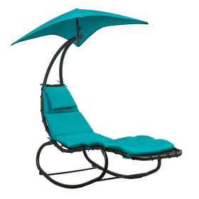 Hanging Chaise Lounge Chair Swing Curved Cushion Seat Hammock
