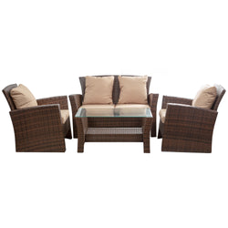 Brasillia 4 Pieces Patio Conversational Set