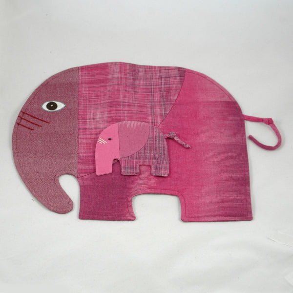 Elephant Place Mat and Drinks Mat