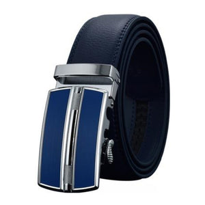 Men's Genuine Leather Strap Automatic Alloy Buckle Closure Belts