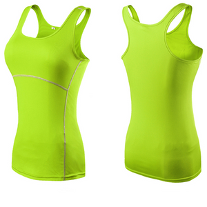 Women's Round Neck Sleeveless Plain Stretchy Quick Dry Workout Tops