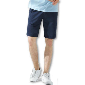 Men's Solid Mid Waist Slim-Fit Plain Breathable Casual and Outdoor Shorts