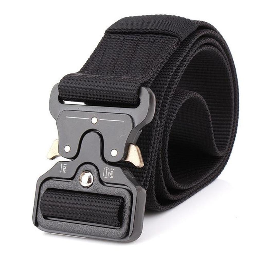 Men's Solid Military Nylon Tactical Strap Centuries Multi-functional Training Belt